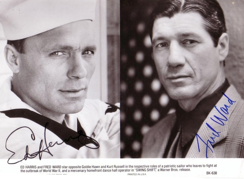 Swing Shift - Ed Harris & Fred Ward Autographs
