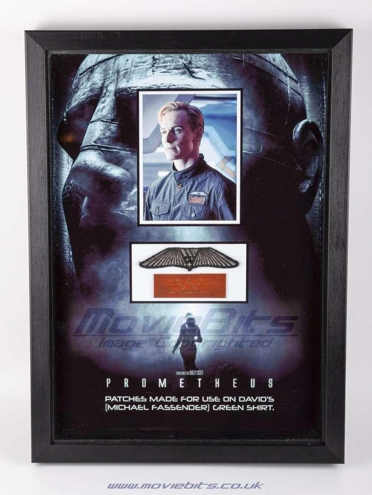 Prometheus – David's Backup Shirt Patches - Movie Bits